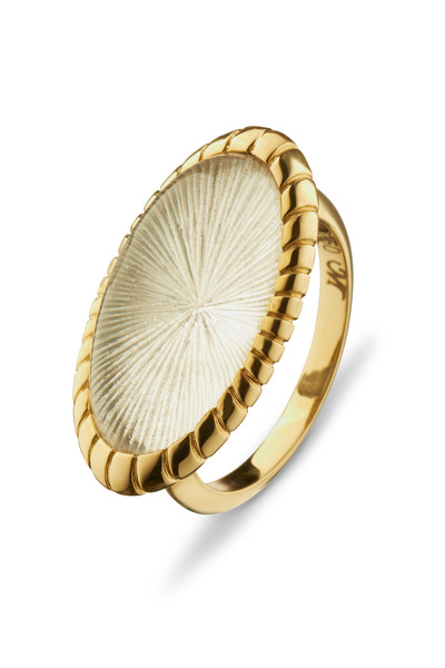 Monica Rich Kosann - Gold Rock Crystal Starburst Ring