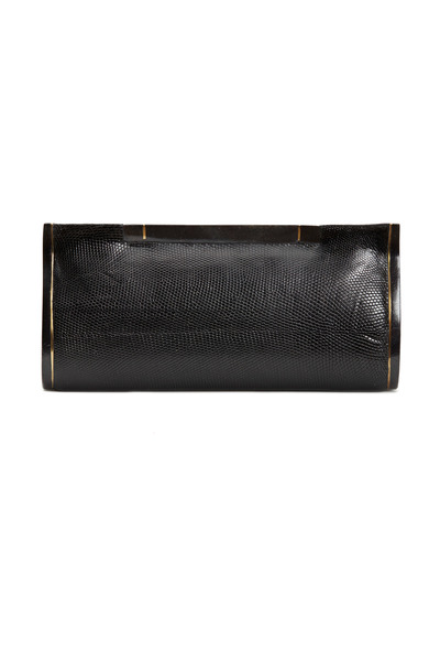 R&Y Augousti - Black Lizard Clutch