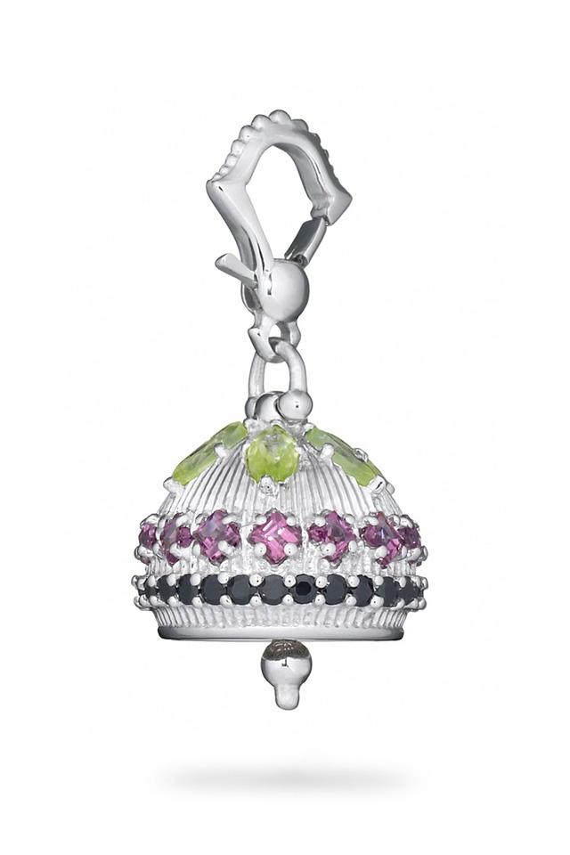 Mediation Bell Sterling Silver Peridot Pendant