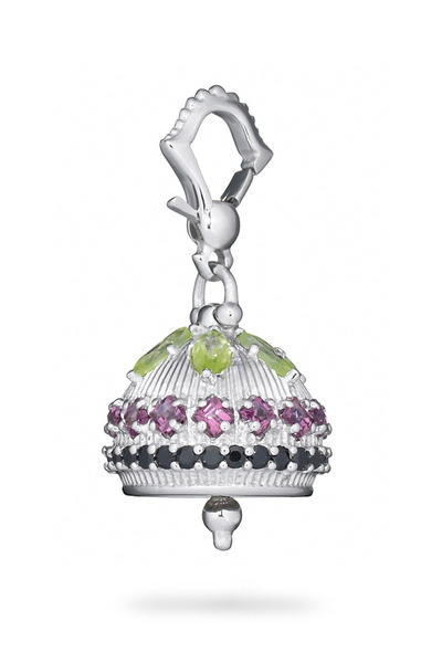 Paul Morelli - Mediation Bell Sterling Silver Peridot Pendant