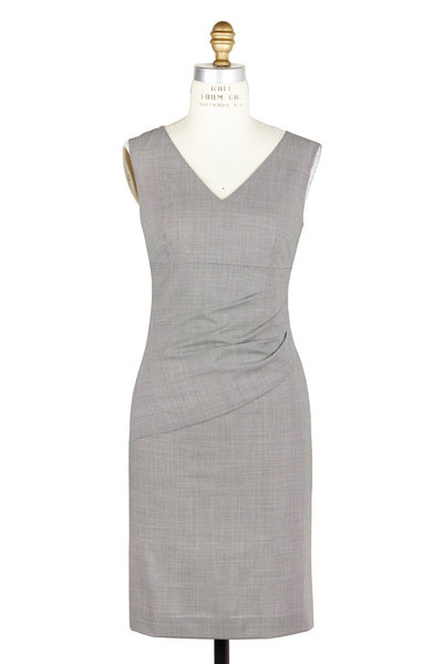 Kiton - Black & White Check Print Dress