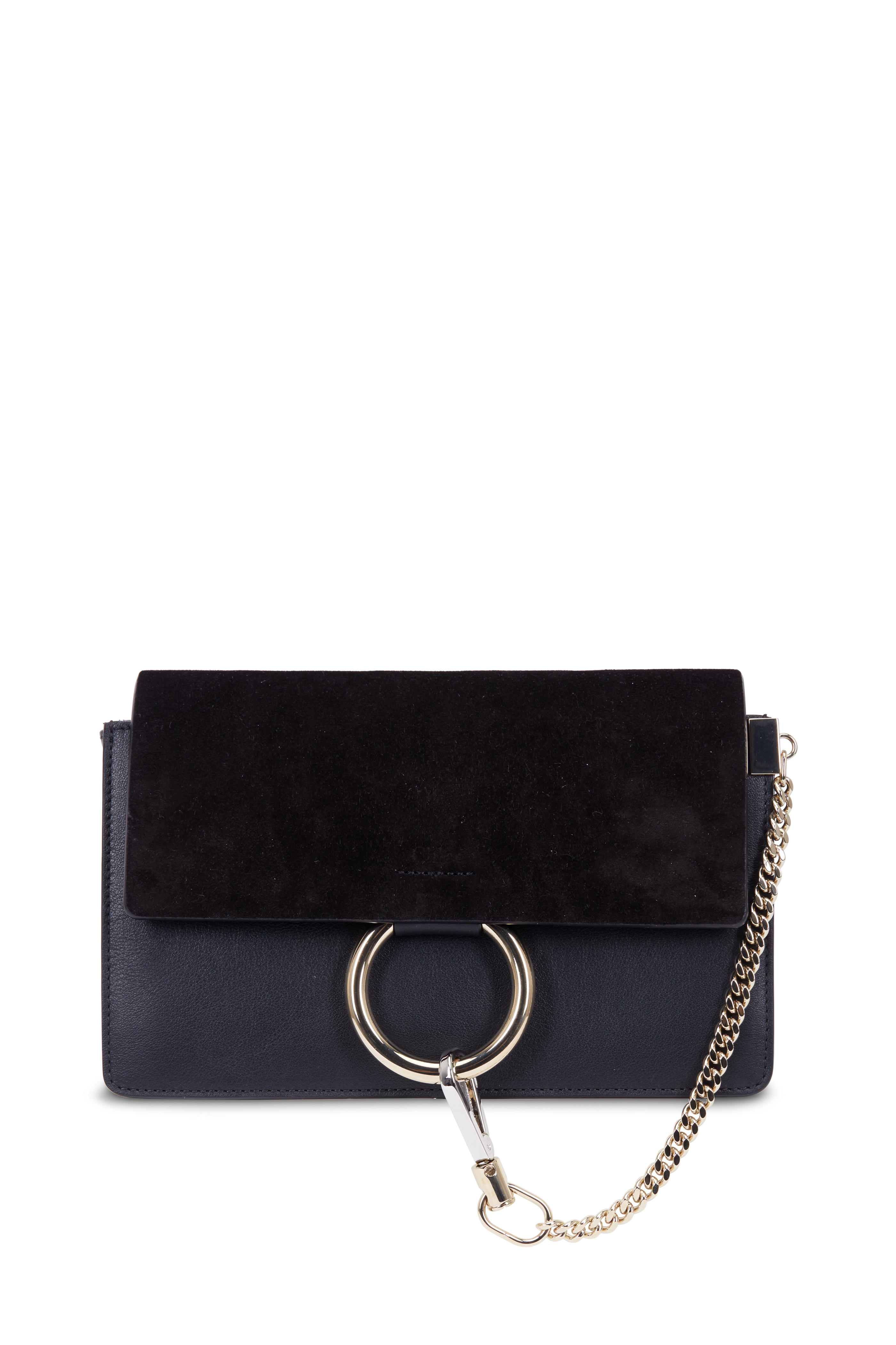 c74ce41fd4 Chloé - Faye Black Leather & Suede Small Shoulder Bag | Mitchell Stores