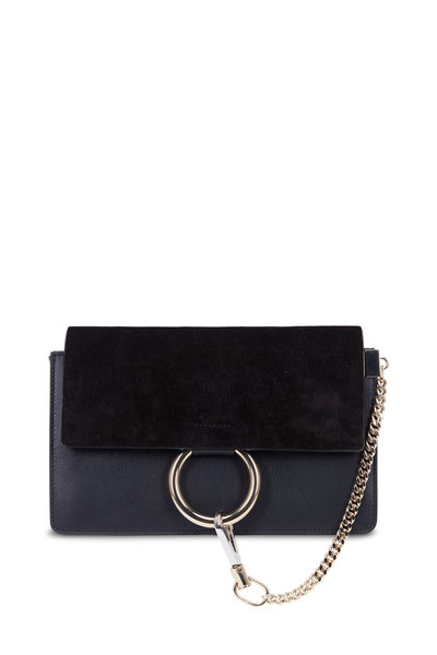 Chloé - Faye Black Leather & Suede Small Shoulder Bag