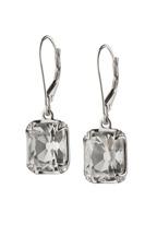 Monica Rich Kosann - Sterling Silver Crystal & Sapphire Dangle Earrings