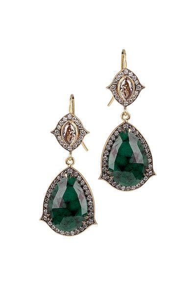 Sylva & Cie - Emerald Champion Diamond Earring