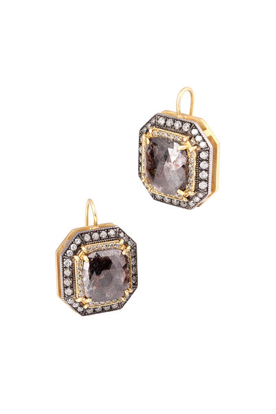 Sylva & Cie - Gold & Platinum Diamond Earrings