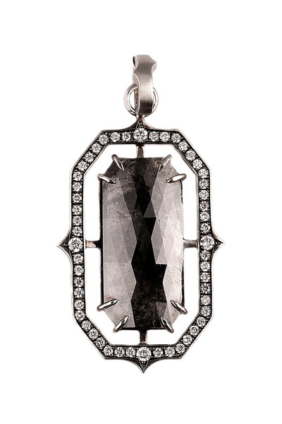Sylva & Cie - Platinum Rough Diamond Pendant