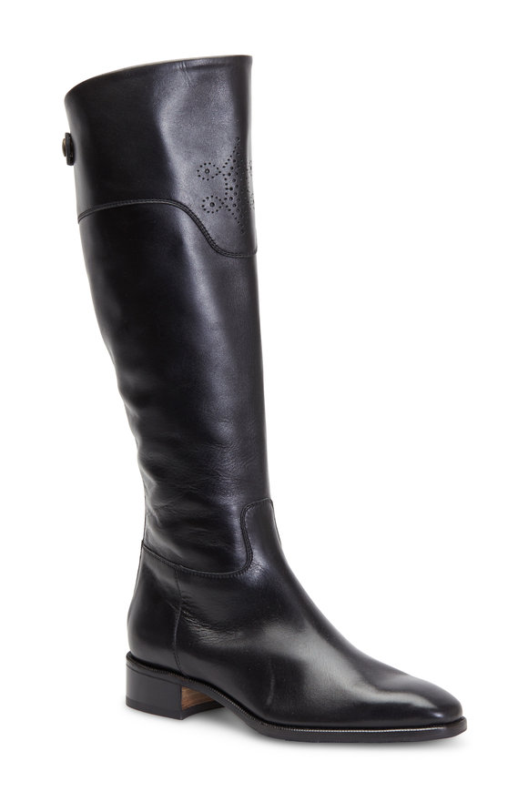 Gravati Black Leather Riding Boot, 35mm