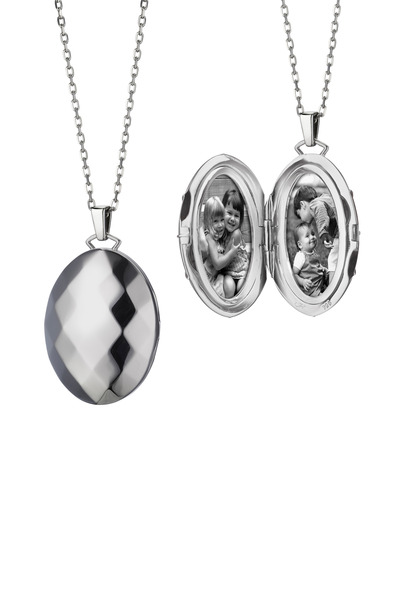 Monica Rich Kosann - Sterling Silver Mars Locket Necklace