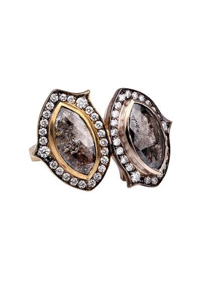 Sylva & Cie - 18K Yellow Gold Diamond Cocktail Ring
