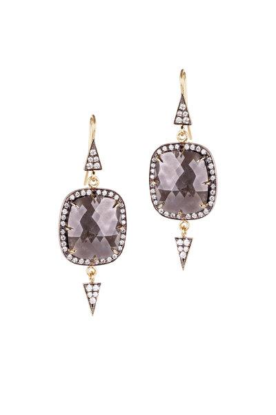 Sylva & Cie - Rough Diamond Earring