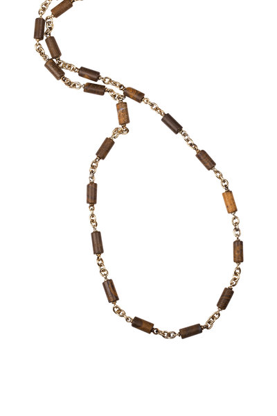 Sylva & Cie - 14K Yellow Gold Opal Necklace