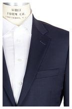 Samuelsohn - Becket Solid Navy Blue Wool Suit