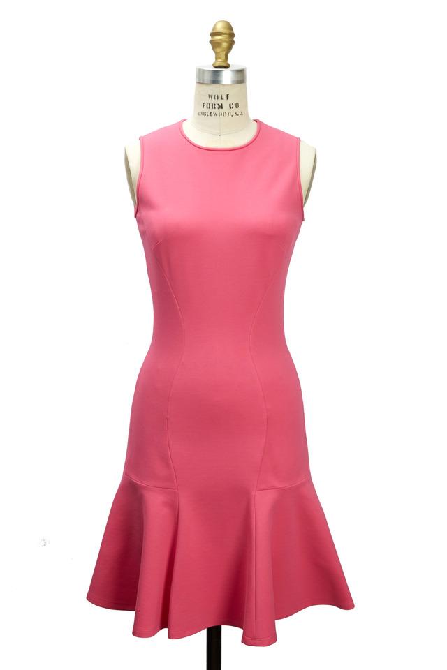 Ponte De Roma Carnation Jersey Flare Dress