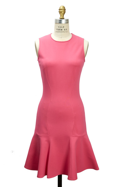 Michael Kors Collection - Ponte De Roma Carnation Jersey Flare Dress