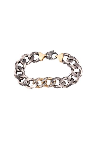 Sylva & Cie - Gold & Silver Diamond Link Bracelet