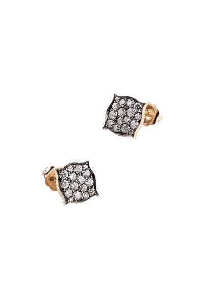 Sylva & Cie - 18K Yellow Gold Diamond Cluster Studs