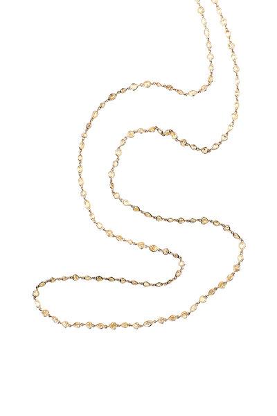 Sylva & Cie - 14K Yellow Gold Fancy Yellow Diamond Necklace