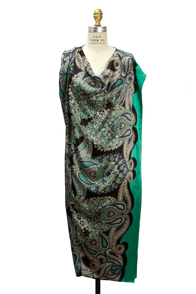 Green Multicolor Dress