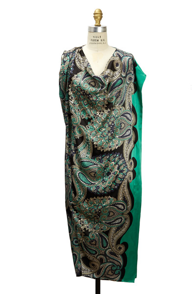 Lanvin - Green Multicolor Dress