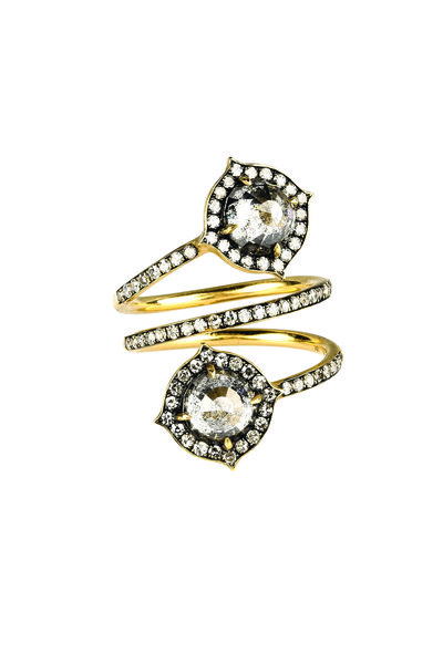 "Sylva & Cie - ""Moi & Toi"" Yellow Gold Diamond Ring"