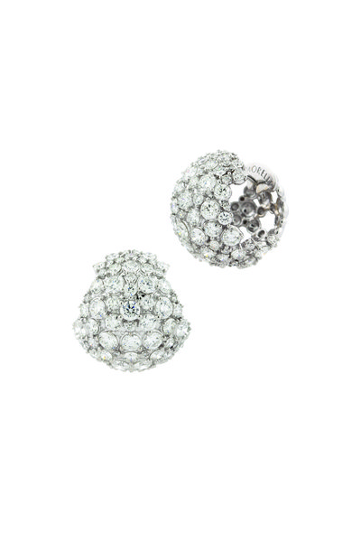 Paul Morelli - 18K White Gold Diamond Cluster Earrings