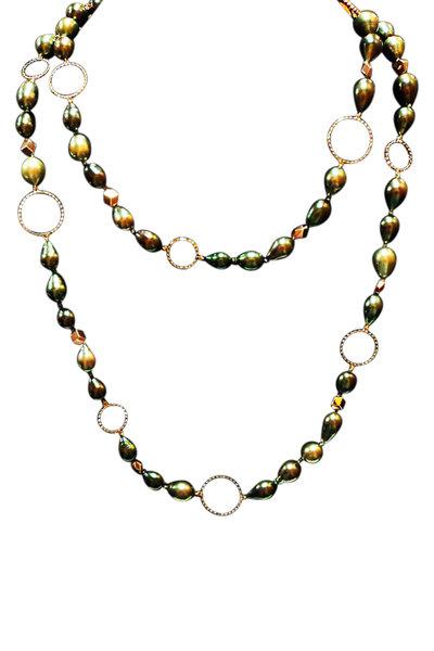 Paolo Costagli - Brillante Gold Baroque Tahitian Pearl Necklace
