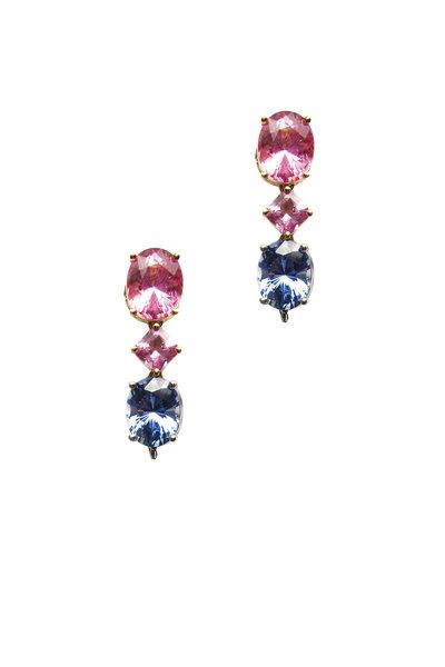 Paolo Costagli - Pink & Blue Sapphire Earrings