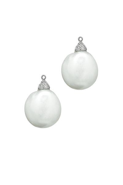 Paolo Costagli - White Gold Baroque Pearl Diamond Earring Pendants