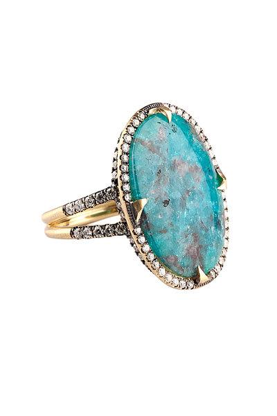 Sylva & Cie - 18K Paraiba Tourmaline & Diamond Cocktail Ring
