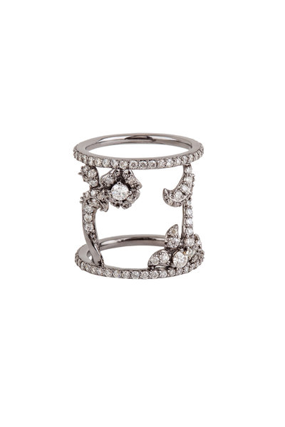 Bochic - Floral Spacer Cage Band Ring