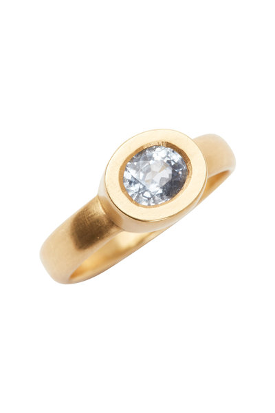 Caroline Ellen - 20K Yellow Gold Oval Blue Sapphire Ring