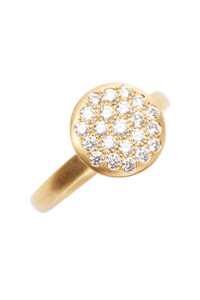 Caroline Ellen - 20K Yellow Gold Diamond Ring