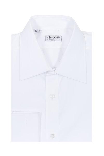 Charvet - White Poplin French Cuff Dress Shirt