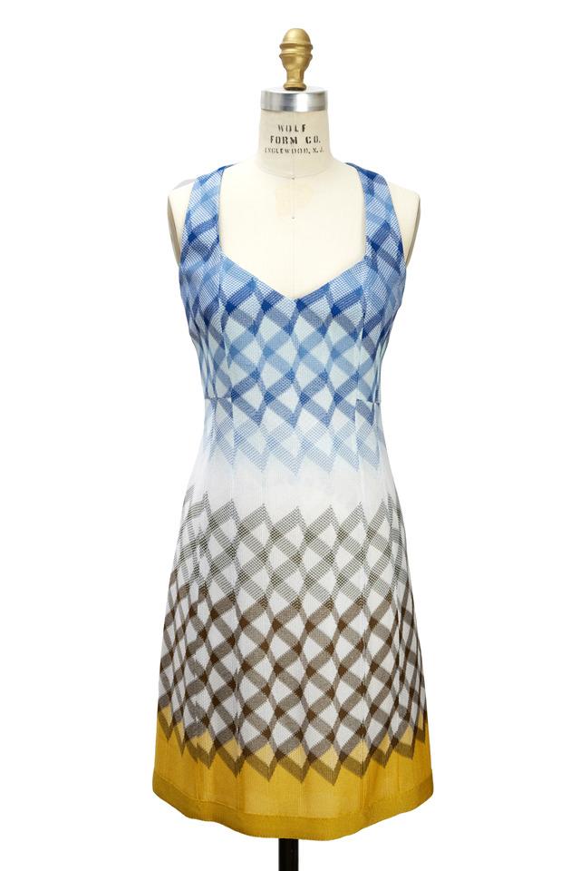 Blue Fishnet Dress