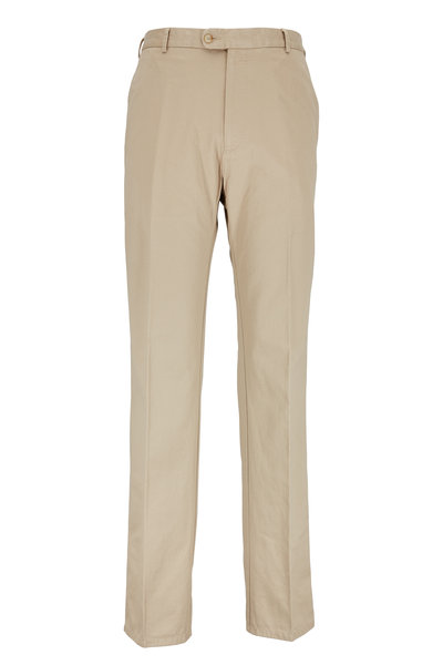 Peter Millar - Khaki Cotton Twill Chino Pant