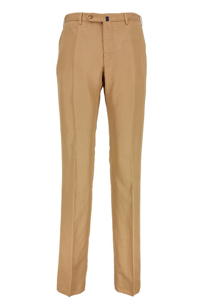 Incotex - Benson Dark Tan Cotton Blend Chinolino Pant