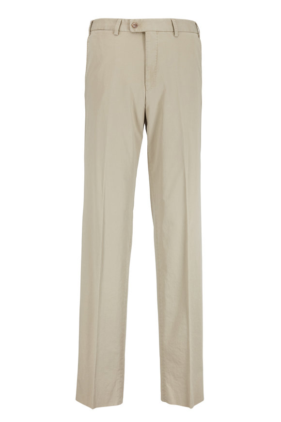 Hiltl Dayne Tan Stretch Cotton Pant