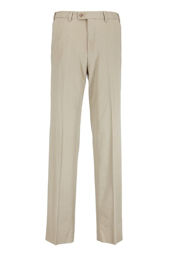 Dayne Tan Stretch Cotton Pant