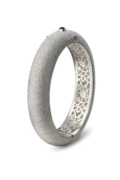 Monica Rich Kosann - Sterling Silver Narrow Black Onyx Cuff Bracelet