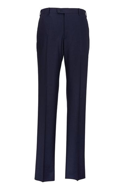 Zanella - Devon Navy Blue Wool Trousers