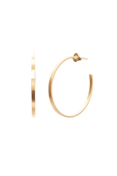 Caroline Ellen - 20K Yellow Gold Flat Hoops