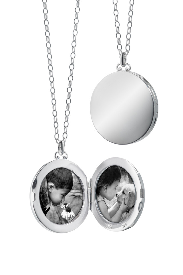 Sterling Silver Round Domed Edge Locket