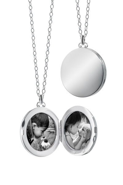 Monica Rich Kosann - Sterling Silver Round Domed Edge Locket