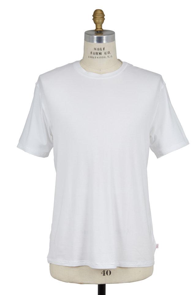 White Jersey Short Sleeve Crewneck T-Shirt