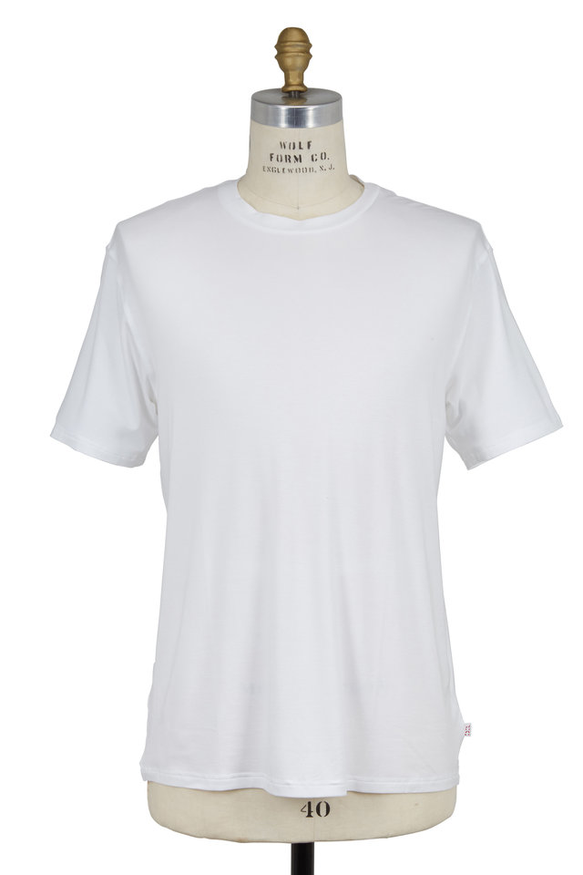 White Jersey Short Sleeve Crewneck T-Shirt
