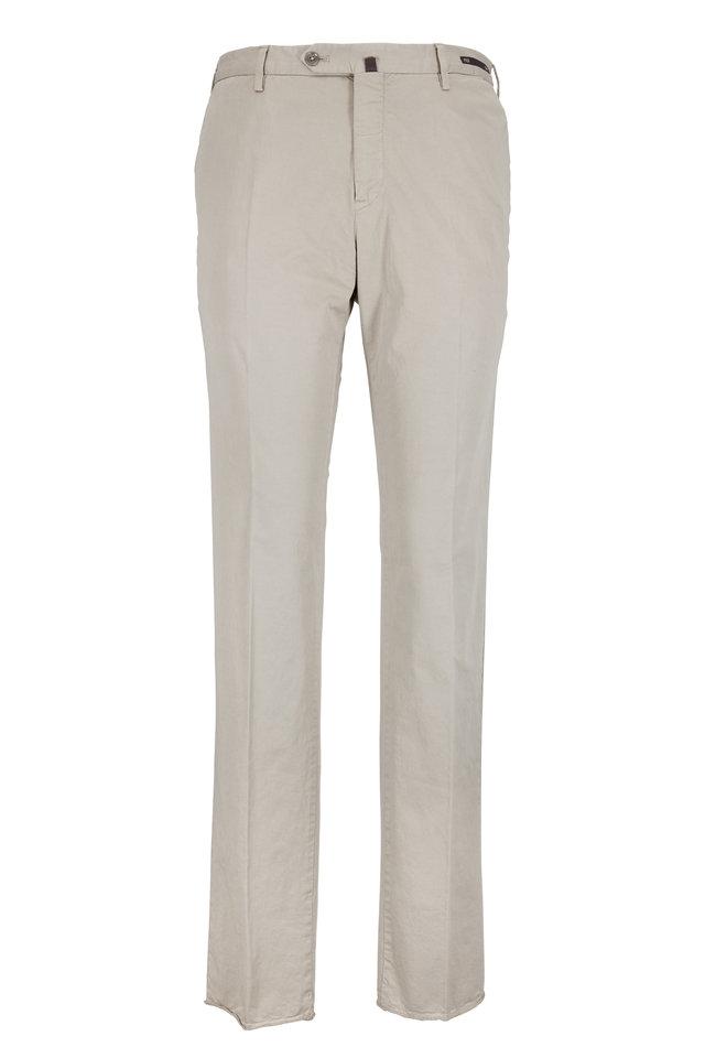 Vintage Khaki Stretch Cotton Slim Fit Pant
