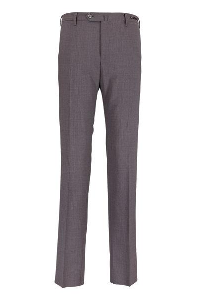 PT Pantaloni Torino - Taupe Stretch Wool Slim Fit Trousers