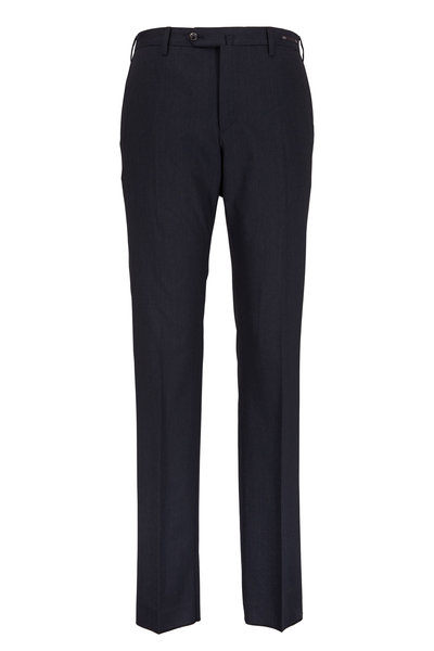 PT Pantaloni Torino - Charcoal Gray Stretch Wool Slim Fit Trousers