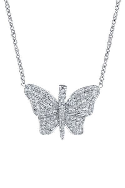 Aaron Henry - White Gold Diamond Butterfly Necklace